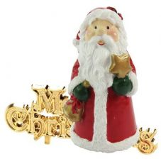 Jolly Santa with Merry Chirstmas Cake Topper
